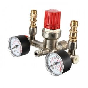 Распределитель воздуха компрессор (в сборе с манометром)